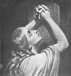 prayer at foot of Jesus